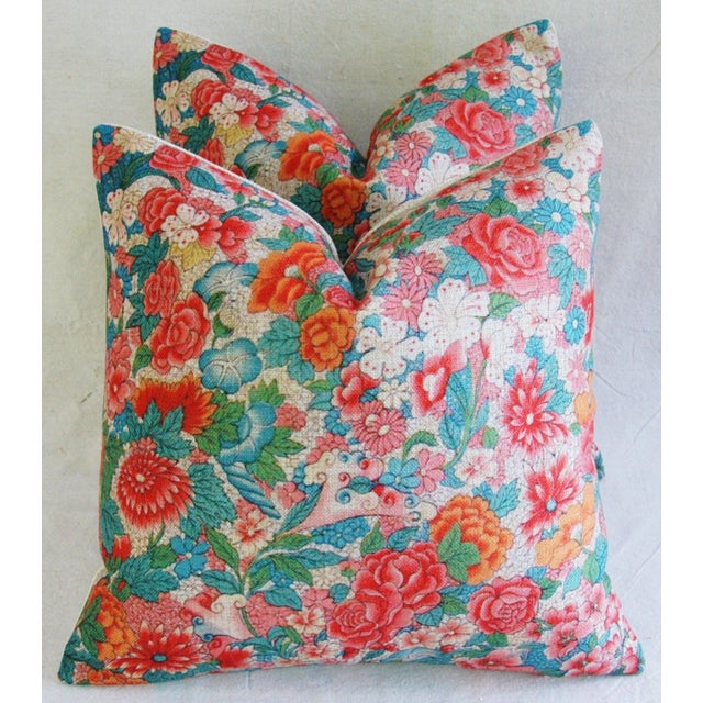 Sale! 4 Summer Floral Linen Pillow Covers - Set 4 - Image 3 of 9