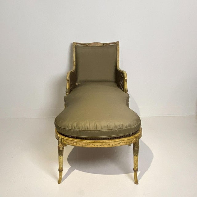 English Painted Fainting Chair, England Circa 1810 For Sale - Image 3 of 11