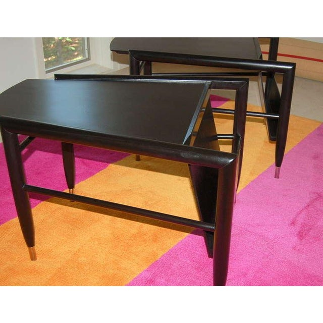 John Keal for Brown Saltman Wedge Side Tables For Sale In Little Rock - Image 6 of 10