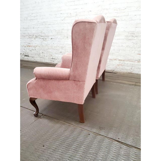 Vintage Blush Pink Velvet Armchairs - a Pair For Sale - Image 12 of 12