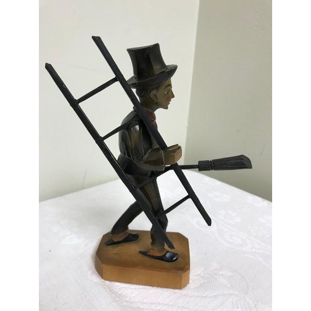 1950s Vintage Anri Hand Carved German Chimney Sweep Wood Figurine For Sale - Image 5 of 12