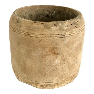 Antique Small Rustic Honey Pot For Sale