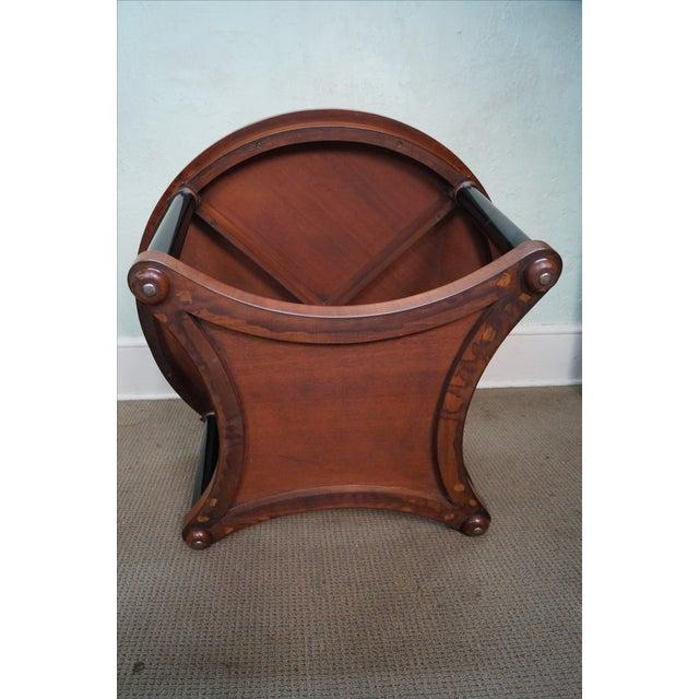 Brown Vintage Italian Burl Wood Biedermeier Coffee Table For Sale - Image 8 of 10