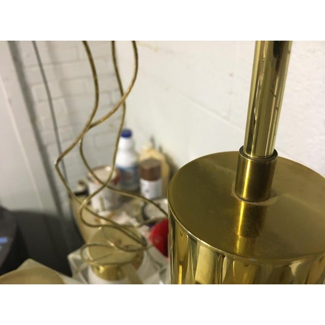 Large Gaetano Sciolari 13 Frosted Cube Brass Chandelier For Sale - Image 11 of 12