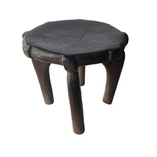 "Old Carved Wood Milk Stool Hehe Gogo People Tanzania 13.25"" H For Sale"