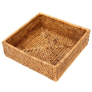 Boho Chic Artifacts Rattan Napkin Holder For Sale