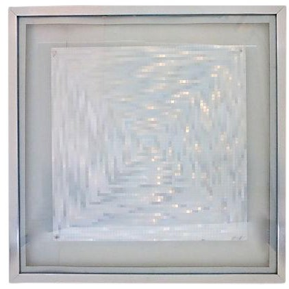 Silver Foil Op Art From England - Image 1 of 6