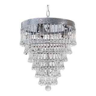 1950's Italian Upside Down Layered Cake Chandelier For Sale