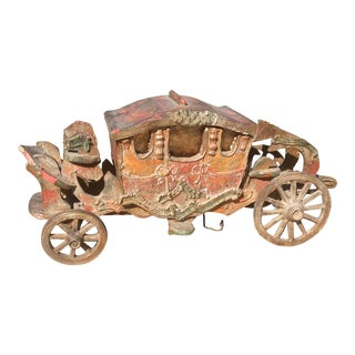 Antique Carriage Themed Lamp For Sale