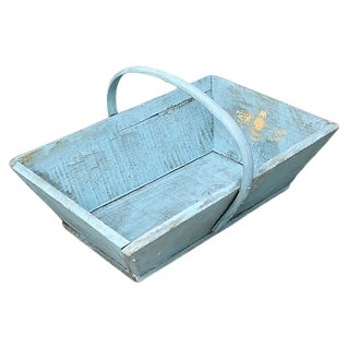 Antique French Garden Trug W/ Gilded Bee For Sale