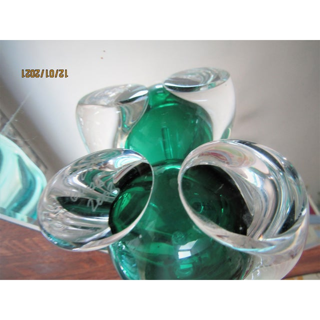 2000 - 2009 Murano Crystal Perfume Bottle Artist Hand Blown For Sale - Image 5 of 6
