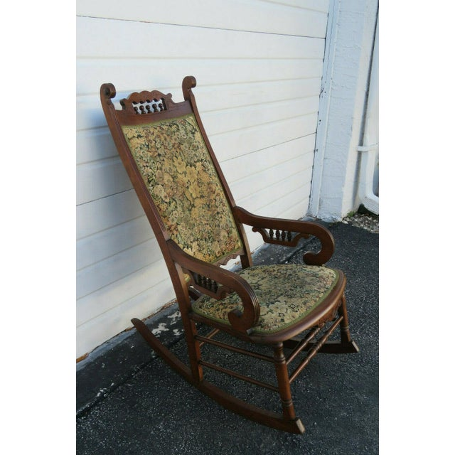 19th Century Victorian Carved Side Rocking Chair For Sale - Image 11 of 11