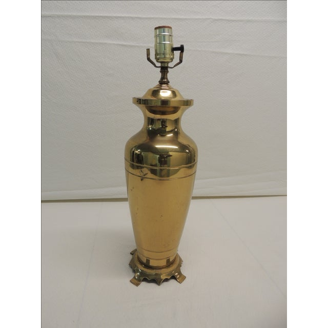 Hollywood Regency Brass Ginger Jar Table Lamp - Image 5 of 5