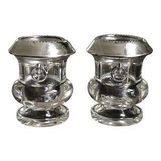 Sterling and Crystal Urns Cigarette Holders - a Pair For Sale