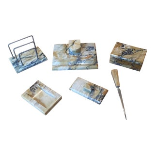 Granite Desk Set - 6 Pieces