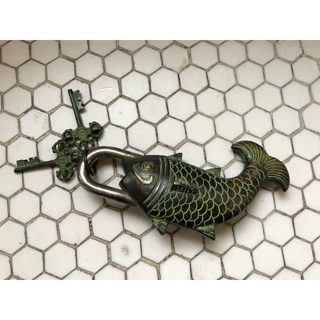 Tibetian Mystery Koi Fish Lock & Keys - Image 3 of 10