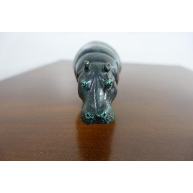 Mid-Century Modern Sergio Bustamante Bronze Hippo Sculpture For Sale - Image 3 of 7