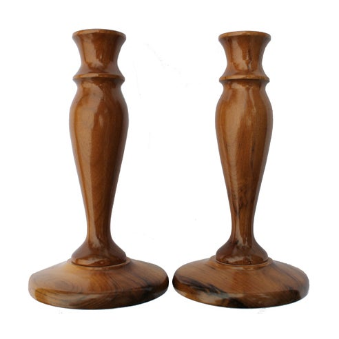 Myrtlewood Candlesticks - A Pair - Image 1 of 3