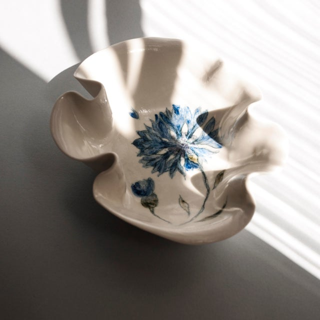 Cornflower Primavera Porcelain Bowl For Sale - Image 6 of 10