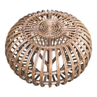 Modern Brown Rattan Stool For Sale