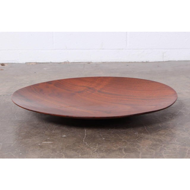 A very large black walnut charger by Bob Stocksdale. This is the largest example that we have seen.
