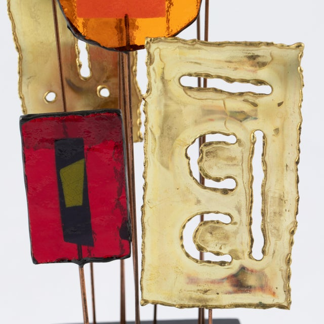 C. Jeré Artisan House Resin and Brass Tabletop Sculpture, Circa 1966 For Sale - Image 10 of 13
