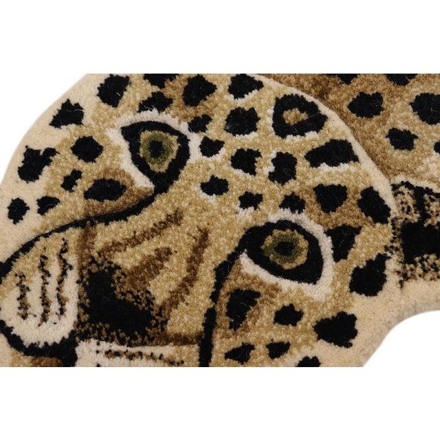 Contemporary Decorate Wild Animal Design Handcuffed Area Rug- 3′ × 5′ For Sale - Image 4 of 11
