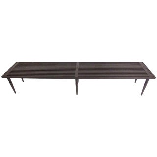 Mid-Century Modern Slat Bench For Sale