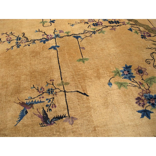 "Antique Chinese Art Deco Rug 9'0"" X 14'6"" For Sale In New York - Image 6 of 9"