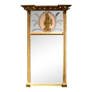 Charming Federal Giltwood Trumeau Mirror