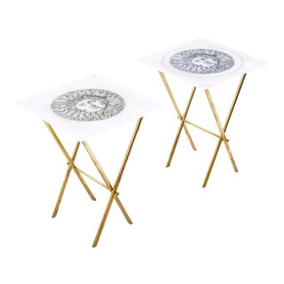 Barnaba Fornasetti Tray Tables - a Pair For Sale