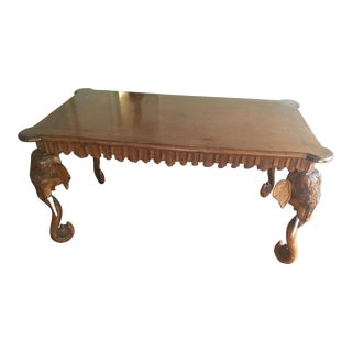 20th Century Boho Chic Gampel & Stoll Elephant Writing Desk For Sale