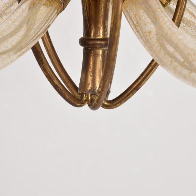 Barovier & Toso Mid Century Sculptural Modern Italian Murano Chandelier Five Arms For Sale - Image 4 of 11
