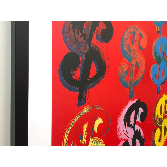 """1980s Andy Warhol Estate Rare Vintage 1989 1st Edition Lithograph Print Large Framed Pop Art Poster """" Dollar Signs """" 1982 For Sale - Image 5 of 13"""