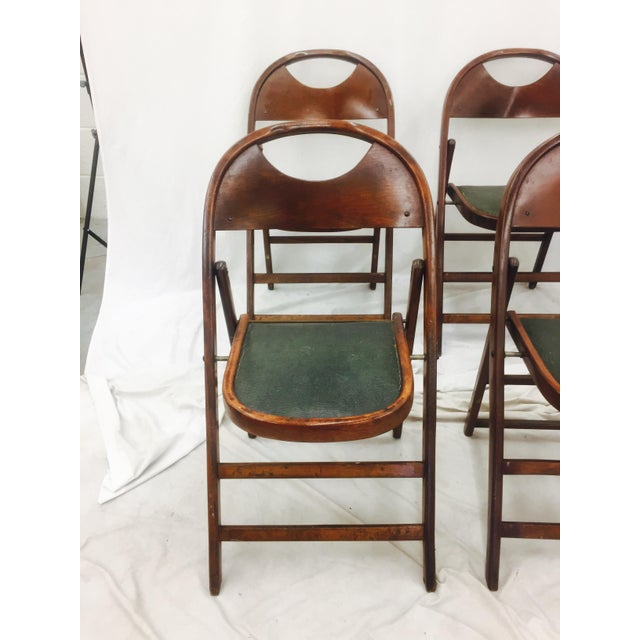 Vintage Bentwood Folding Chairs - Set of 6 For Sale In Raleigh - Image 6 of 11