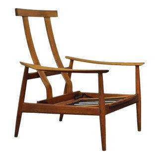 Vintage Arne Vodder Fd-164 Teak Mid Century Danish Modern Reclining Lounge Chair For Sale