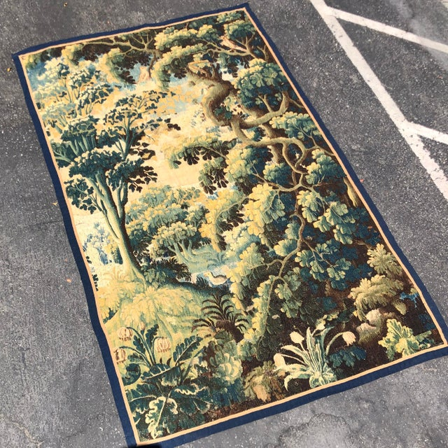 17th Century Antique 17th C Flemish Landscape Tapestry For Sale - Image 5 of 9