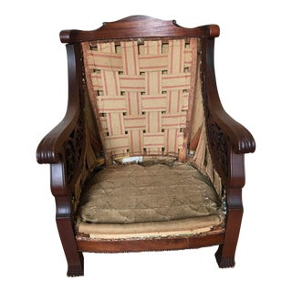 19th Century Solid Wood Armchair