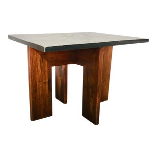 Vintage Adrian Pearsall Walnut & Slate Side Table Craft Associates Mid Century Modern For Sale