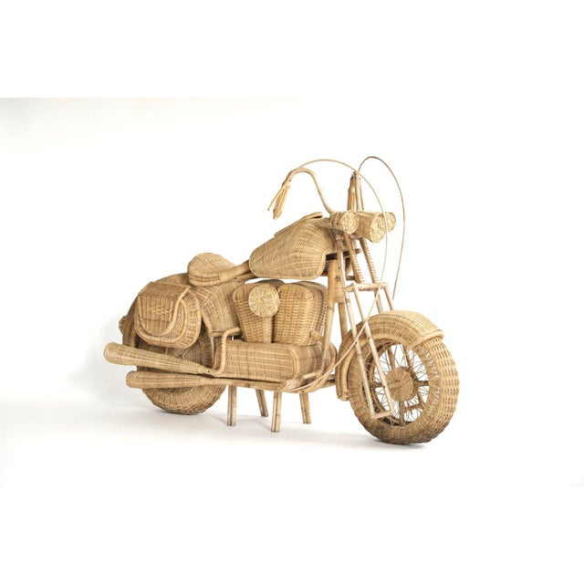 Tom Dixon Rattan Motorcycle Sculpture For Sale - Image 13 of 13