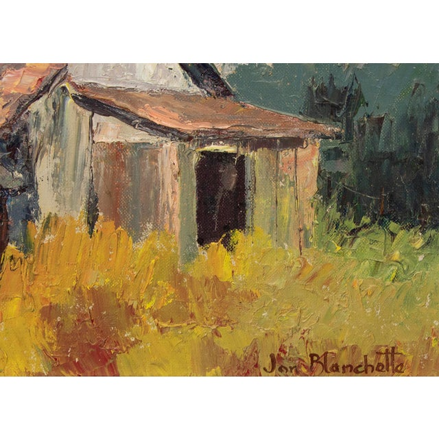 "Farmhouse Original ""Old Barns, Southern California"" Oil Painting by Jon Blanchette For Sale - Image 3 of 9"