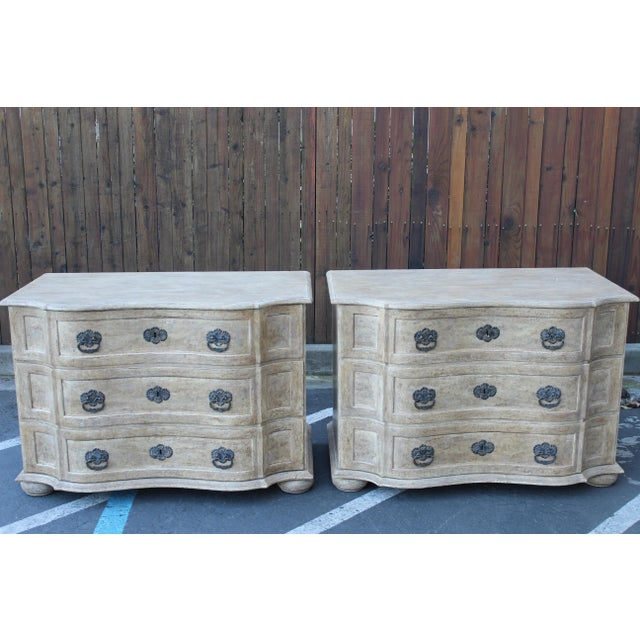 Pair of Tan Three Drawer Chests For Sale - Image 11 of 11