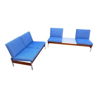 Mid Century Modern Modular Sofa and Loveseat Set For Sale