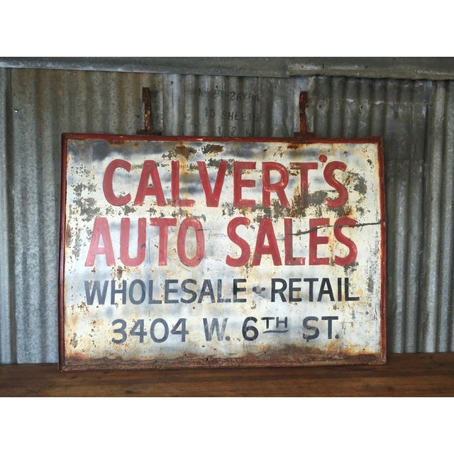 Vintage Auto Trade Sign - Image 2 of 11