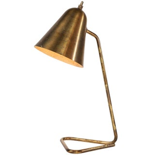 1950s Brass Table Lamp Attributed to Jacques Biny