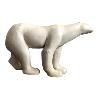White Polar Bear Sculpture by Austin Rod For Sale