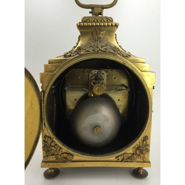 Late 18th Century Louis XVI Pendule d'Officier Ormolu Carriage Clock For Sale - Image 4 of 9