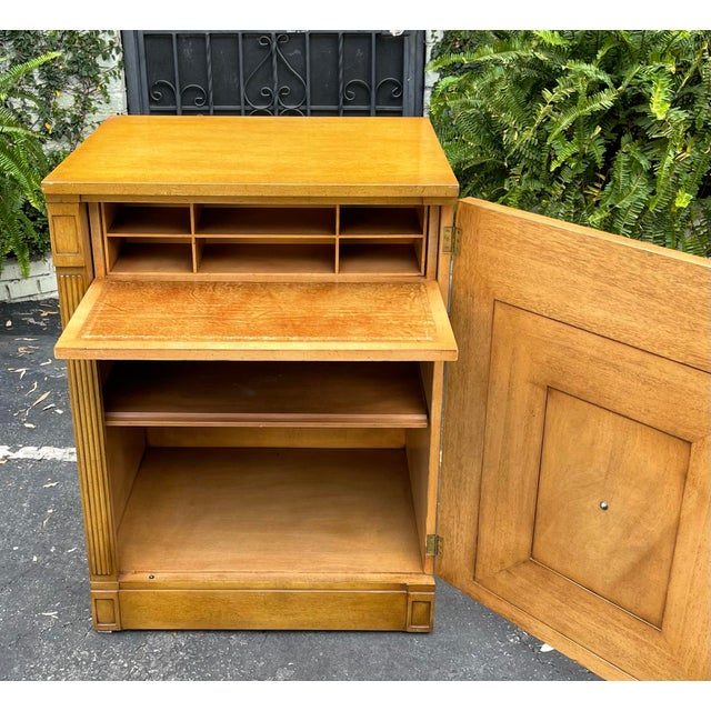 Rare Grosfeld House Hollywood Regency Mid Century Modern Empire Low Secretary Desk Cabinet For Sale In Los Angeles - Image 6 of 6