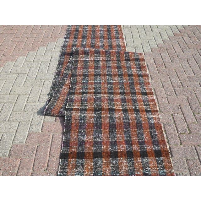 "Vintage Turkish Kilim Runner2'7'x18'6"" For Sale - Image 12 of 13"