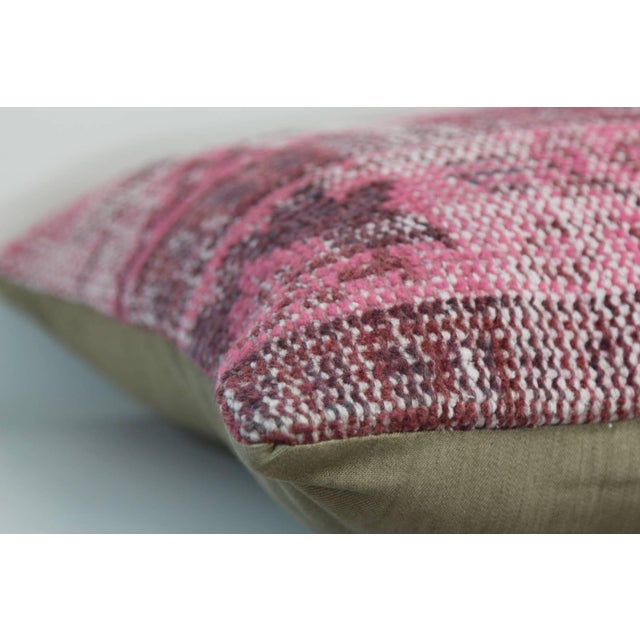Pink Handmade Kilim Pillow Cover For Sale - Image 4 of 4